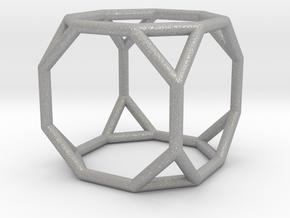 0271 Truncated Cube E (a=1cm) #001 in Aluminum