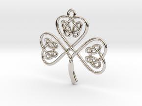 Shamrock Knot Pendant in Platinum
