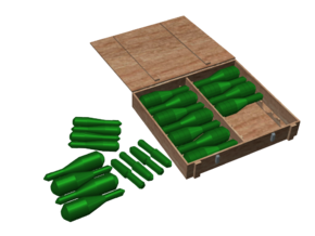 Panzergranate (Grenades) and Box Set, 1/6 in White Strong & Flexible