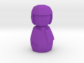 Kokeshi Low Poly  Style in Purple Processed Versatile Plastic: 1:12