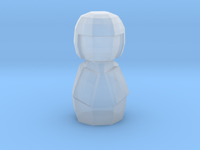 Kokeshi Low Poly  Style in Smooth Fine Detail Plastic: 1:13.71