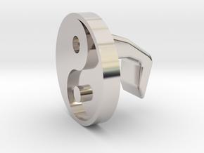 iMac Camera Cover - Yin Yang in Platinum