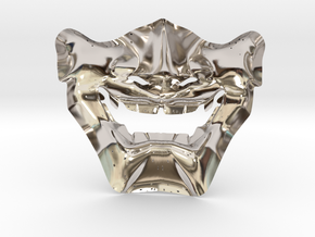 Samurai Mask High Quality in Rhodium Plated Brass