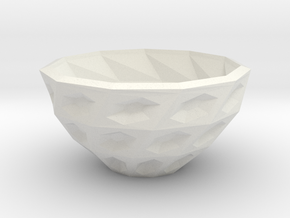 Twisted bowl in White Natural Versatile Plastic