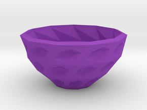 Twisted bowl in Purple Processed Versatile Plastic