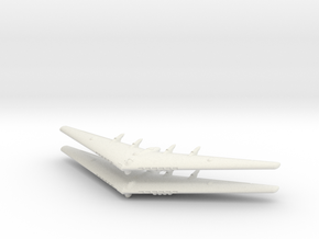 YB-35 Flying Wing- (Global War)- (Qty. 2) in White Natural Versatile Plastic