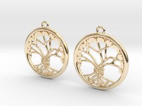 Tree Of Life Earrings in 14K Yellow Gold