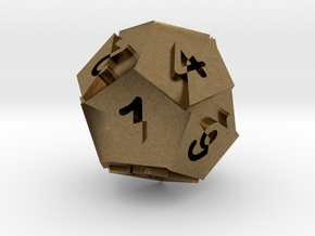Optical Art D12 Dice in Natural Bronze