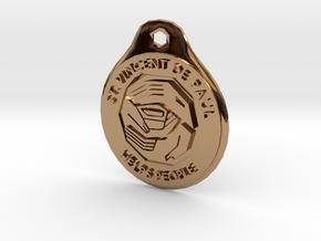 Saint Vincent De Paul Charity Pendant in Polished Brass