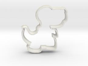 Cookie T-rex in White Natural Versatile Plastic