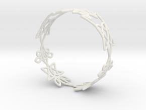 Celtic knots Cuff 1  in White Natural Versatile Plastic: Extra Small