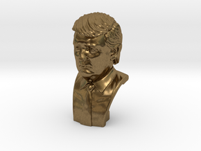 Donald Trump. Portrait bust in Natural Bronze