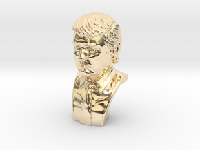 Donald Trump. Portrait bust in 14k Gold Plated Brass