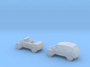 1/220 Kubelwagons, open And closed in Smooth Fine Detail Plastic