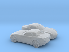 1/160 2X 2005-09 Pontiac Solstice Roadster in Smooth Fine Detail Plastic
