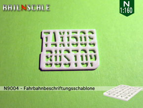 Fahrbahnbeschriftungsschablone (N 1:160) in White Strong & Flexible