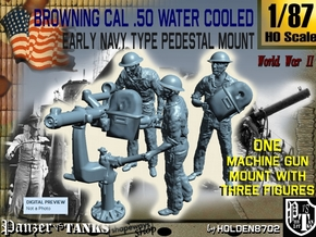 1-87 USN Cal 50 M2 WC & Crew Set in Smooth Fine Detail Plastic
