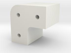 """Elev-8 Frame Corner Spacer 1 1/4 """"  in White Natural Versatile Plastic"""