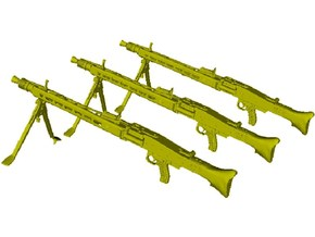 1/24 scale WWII Wehrmacht MG-42 machineguns x 3 in Smooth Fine Detail Plastic