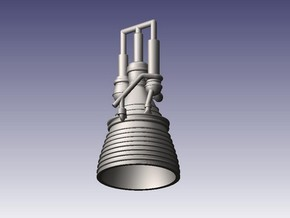 J-2 Engine (1:144) for Saturn IB or V in Smooth Fine Detail Plastic