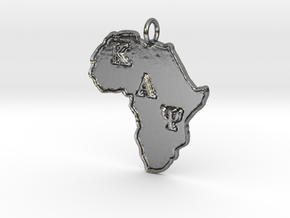 NUPELand Pendant in Polished Silver