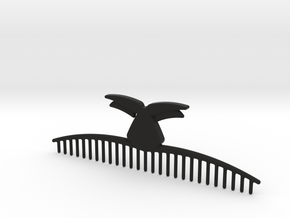 Mustache Comb in Black Natural Versatile Plastic