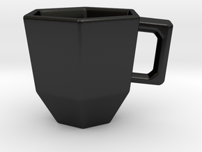 Hex-a-Mug in Matte Black Porcelain