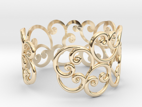 Bracelet Scroll in 14k Gold Plated Brass