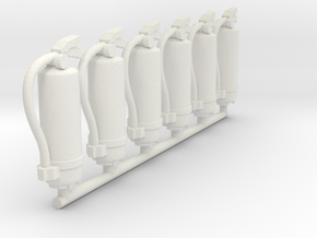 Fire Extinguisher 01. 1:22 Scale in White Natural Versatile Plastic