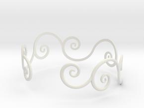 Bracelet Tendril in White Natural Versatile Plastic
