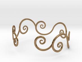Bracelet Tendril in Natural Brass