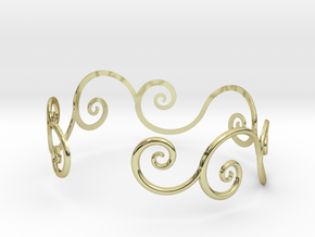 Bracelet Tendril in 18k Gold Plated Brass
