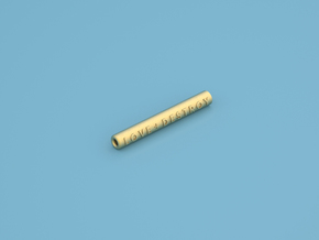 One Hitter With Logo - Small in Polished Gold Steel