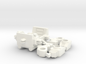"Horri-Bull Minivehicle, ""B"" Parts in White Strong & Flexible Polished"