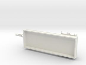 1077 Drehschemelanhänger 6.100m HO in White Natural Versatile Plastic: 1:87 - HO