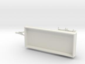 1076 Drehschemelanhänger 5.10meter HO in White Natural Versatile Plastic: 1:87 - HO