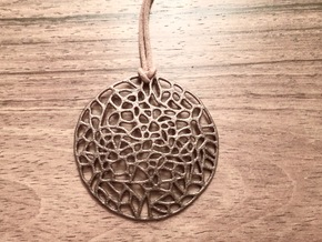 Mosaic Pendant in Polished Bronze Steel