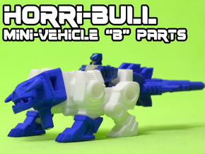 "Horri-Bull Minivehicle, ""B"" Parts in White Strong & Flexible"