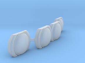 Futurliner Front Lights in Smooth Fine Detail Plastic