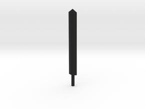 Sword V.1 in Black Natural Versatile Plastic