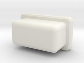Rectangular firebutton for TalyMod  in White Natural Versatile Plastic