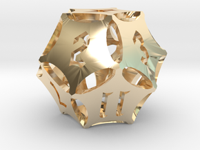 'Kaladesh' D12 Energy Counter die in 14k Gold Plated Brass
