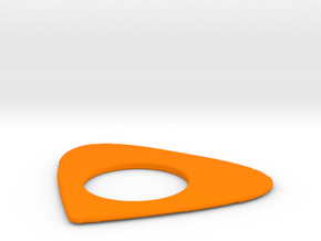 Plektrum in Orange Processed Versatile Plastic