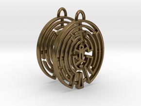 WestWorld Maze Earrings in Natural Bronze