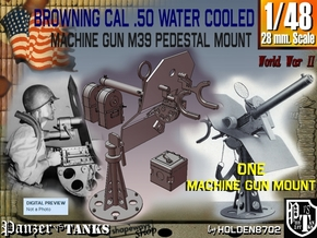 1-48 Cal 50 Pedestal Mount M39 in Smooth Fine Detail Plastic