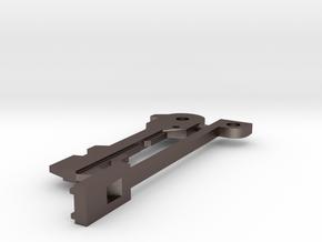 Resident Evil: emblem key - parts B in Polished Bronzed Silver Steel