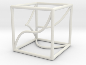 A 3d-curve and its shadows in White Natural Versatile Plastic