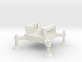 1/144 Scale Corporal Missile Launch Pad in White Natural Versatile Plastic