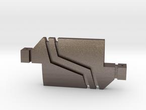 Replicator Block in Polished Bronzed Silver Steel