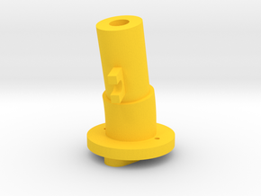 Thrustmaster tailpiece, 13° ang. 15°off. in Yellow Processed Versatile Plastic